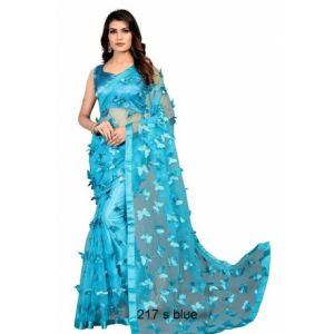 Embriodery Net Saree